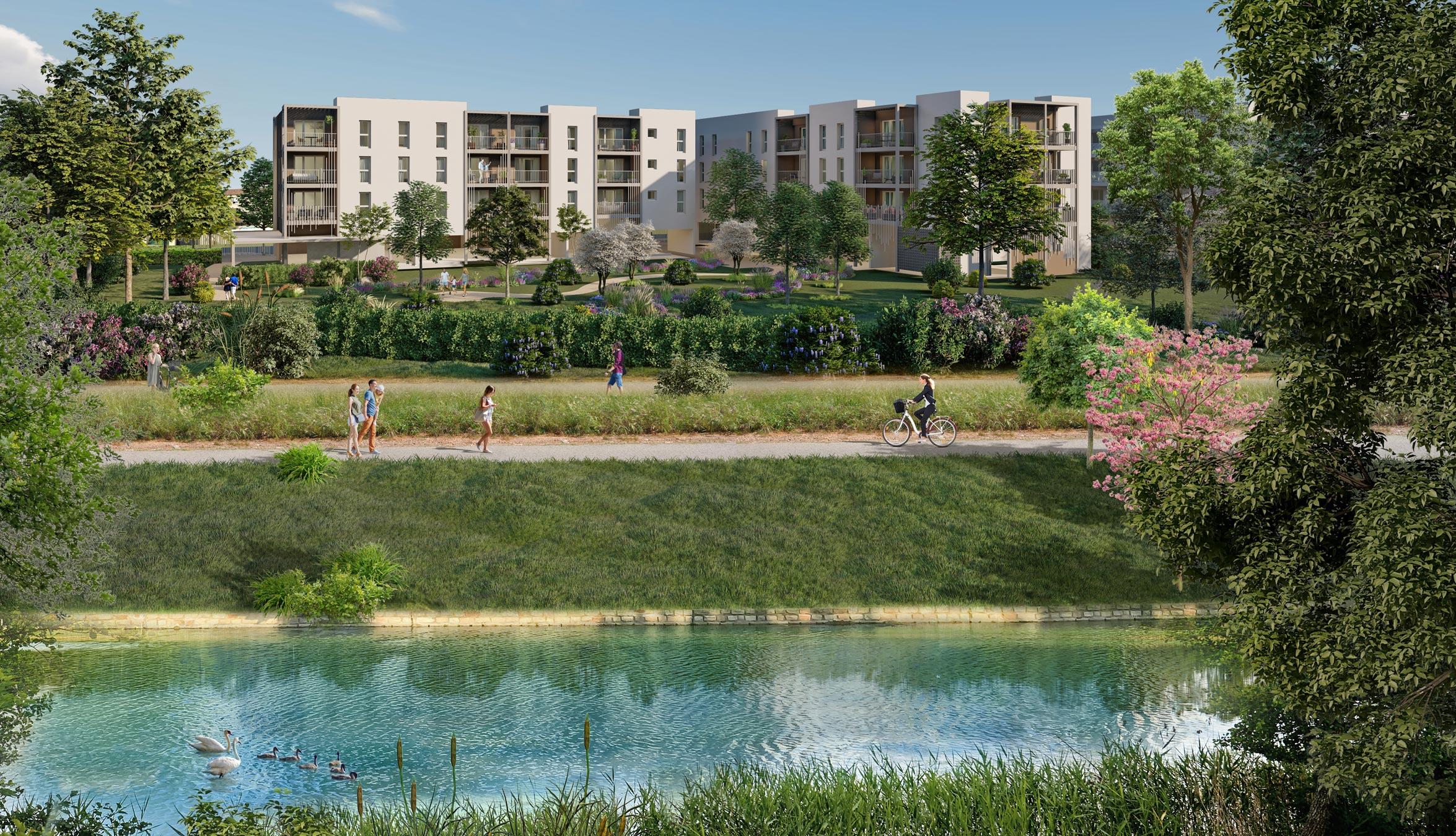 Les jardins du canal à Arles