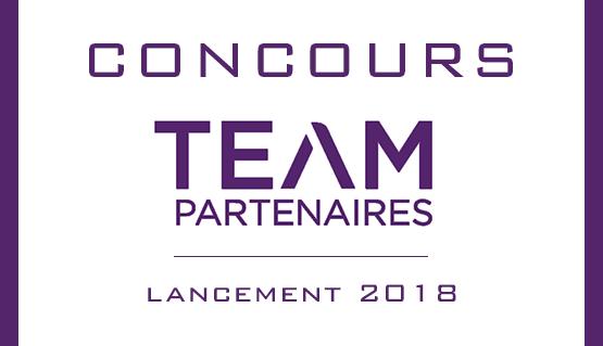 Lancement du concours Team Partenaires 2018 !